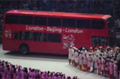 Olympics: London bus marks handover from Beijing