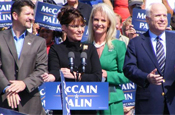 McCain with Sarah Palin: world blames America for crisis