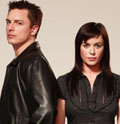 Barrowman (l) and Myles: starring in 'Torchwood'