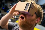 "VR: Image from ""Tested"" YouTube (Hands-On with Google Cardboard Virtual Reality Kit)."