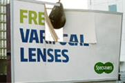 Specsavers ... the victim of advertising vandalism
