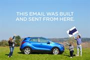 "Vauxhall ""First email built from a car"" by MRM Meteorite"