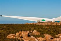 The Jeffery Bay wind farm also in the Eastern Cape