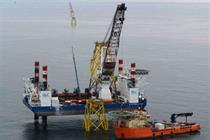 Cable installation on RWE's Nordsee Ost wind farm