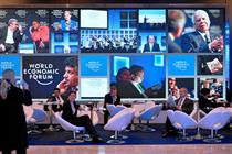 Who is winning the war for share of voice at Davos 2014?