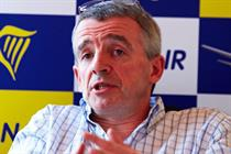 Ryanair records first profit fall in five years but triples marketing spend