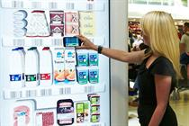 Tesco trials 'virtual fridges' at Gatwick Airport