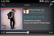 Rim launches BlackBerry 'social' music service