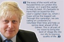 Boris teams up with P&G to kick off capital clean-up