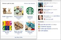 Facebook hooks up with Starbucks for physical gifts trial