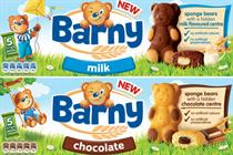 Mondelez launches Barny children's biscuit brand