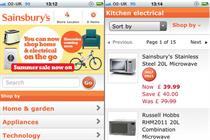 Sainsbury's transactional mobile site goes live