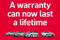 Vauxhall promotes 'lifetime' warranty