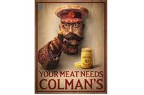 Colman's Mustard recruits carnivores with Lord Kitchener made out of meat