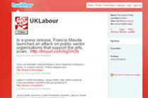 Labour links MPs' websites to Twitter and Facebook