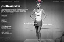 K-Swiss retro trainer launch website features stars including Anna Kournikova