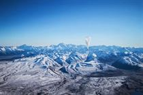 Google's Project Loon sends Wi-Fi balloons into stratosphere
