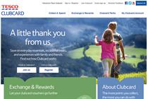 Tesco relaunches Clubcard website to emphasise rewards