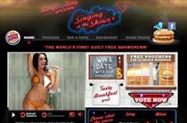 Burger King web campaign shows bikini-clad woman singing in the shower