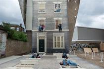 Barbican builds three dimensional visual illusion in Dalston