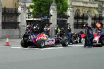 Red Bull goes F1 racing in streets of Westminster