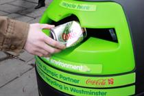 Coca-Cola installs branded recycling bins in London