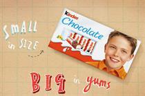 Kinder Chocolate to debut on TV