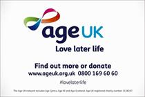 Age UK uses new brand positioning to tell elderly to 'Love later life'