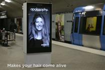 Swedish subway digital stunt sends woman's hair flying