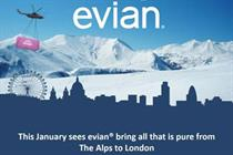 Evian brings the Alps to London