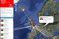 Vodafone launches Twitter/Google Maps mash-up for UK holiday makers