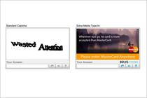 MasterCard and Unilever replace Captcha words with brand messages