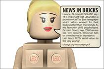 Lego targeted by anti-Sun page 3 campaign