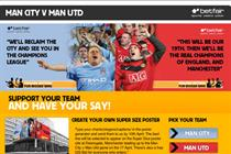 Betfair ignites rivalry between Manchester United and City fans