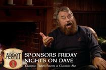 Brian Blessed fronts Abbot Ale's sponsorship of Friday nights on Dave