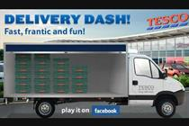 Tesco debuts 'Delivery Dash' Facebook game
