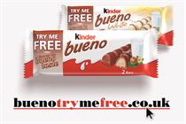 Kinder Bueno launches 'Try Me Free' customer acquisition drive