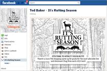 Ted Baker launches 'rutting season' Facebook campaign