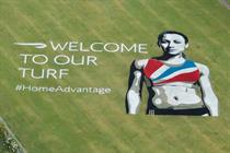 BA psyches out overseas athletes with giant Jessica Ennis image