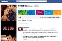 Odeon moves into f-commerce with transactional booking app