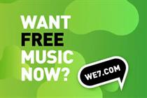 We7 targets mainstream radio with debut TV campaign