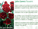 John Lewis moves into flowers as Valentine's Day looms