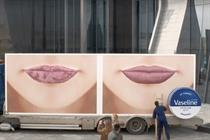 Unilever drives two giant pairs of lips around world to promote Vaseline Lip Therapy