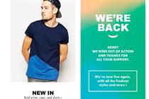 Asos back in action after warehouse fire shuts down website