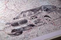 BMW uses intricate map illustrations to show off the BMW X1
