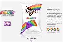 Doritos makes rainbow crisps in support of LGBT rights