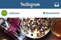 Waitrose, Starbucks and Cadbury among first advertisers on Instagram