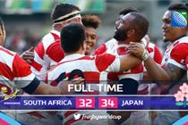 Japan's shock win over South Africa hailed as PR boost for the Rugby World Cup
