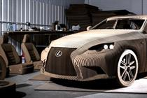 Lexus fashions fully driveable real-size origami car replica
