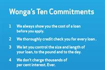 Wonga issues Ten Commitments as Church faces charges of hypocrisy